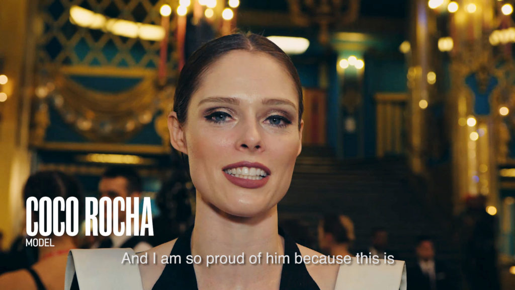 Grafísmo Coco Rocha para video Fashion Freak Show